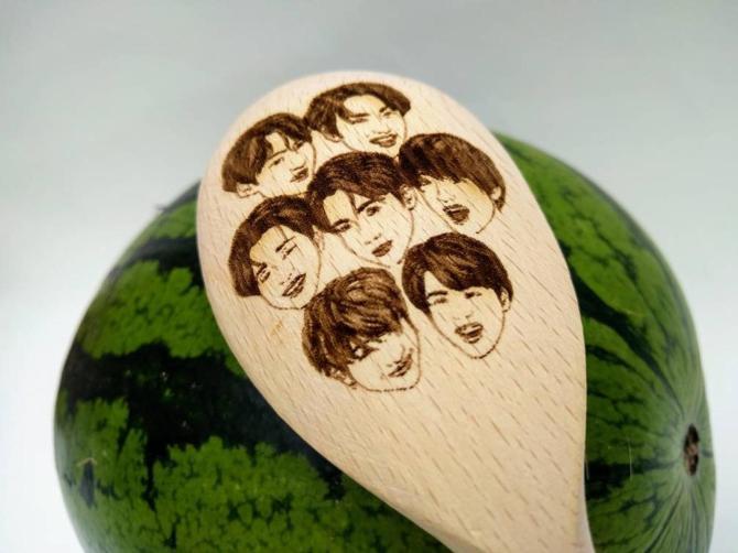 BTS Wooden Spoon