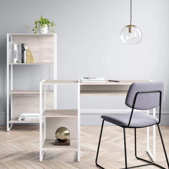 Paulo Wood Writing Desk with Storage