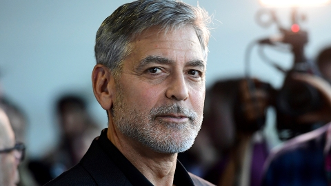 George Clooney's 3-Year-Old Son Interrupted His Interview With Chocolate on His Face | StyleCaster
