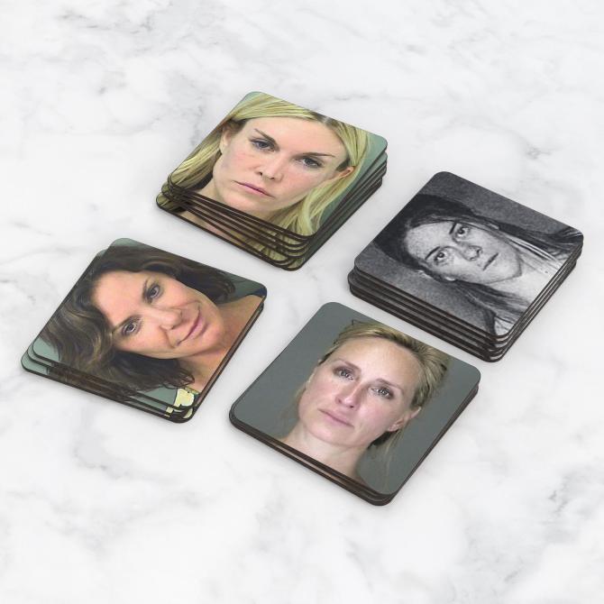 'RHONY' Mugshot Coasters