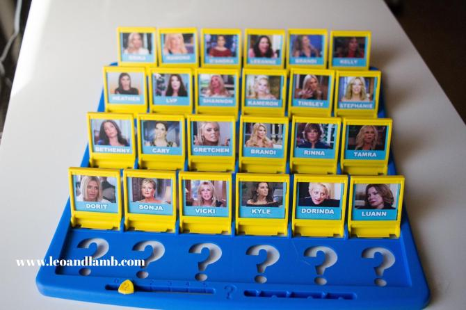 Real Housewives Guess Who? Game