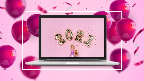 New Year's Eve Zoom Backgrounds To Make Your Virtual Party Extra-Glitzy | StyleCaster
