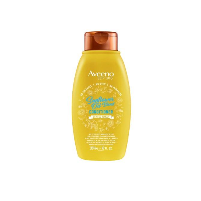 mistura de óleo de girassol para cabelo aveeno