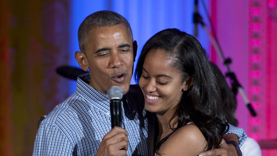 Barack Obama & Malia Obama