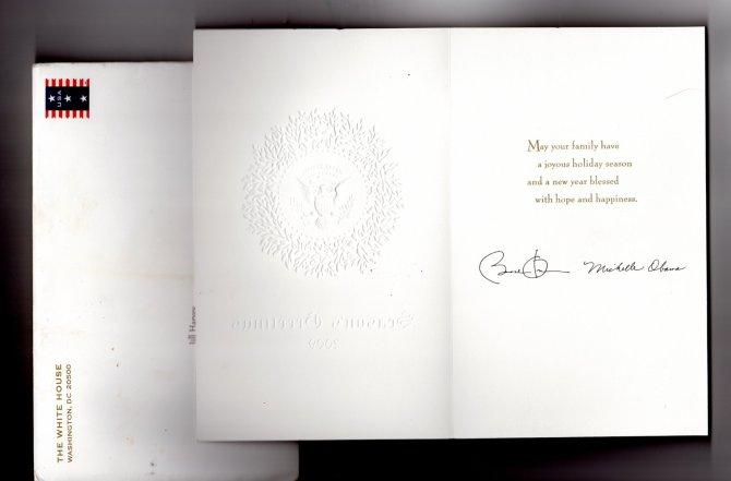 Obama Christmas Card 2009