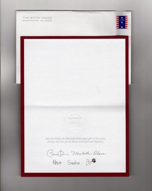 Obama Christmas Card 2010