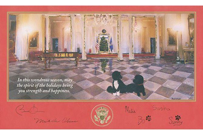 Obama Christmas Card 2014