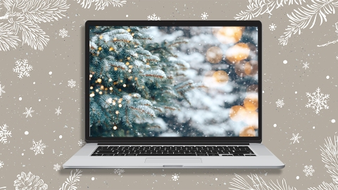 10 Christmas Zoom Backgrounds For A Holly Jolly Video Chat | StyleCaster