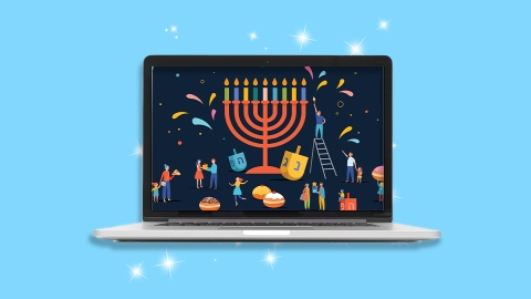 8 Hanukkah Zoom Backgrounds To Help Celebrate The Festival Of Lights | StyleCaster
