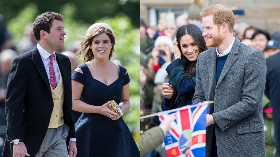 Jack Brooksbank, Princess Eugenie, Meghan Markle & Prince Harry