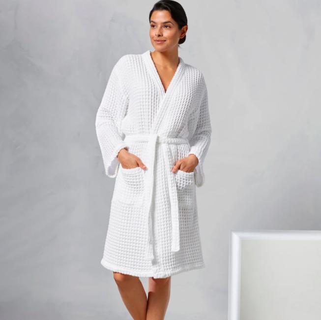 kassatex waffle-weave-robe