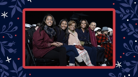The Obama Family Christmas Cards Prove Why They'll Forever Be Our First Family | StyleCaster