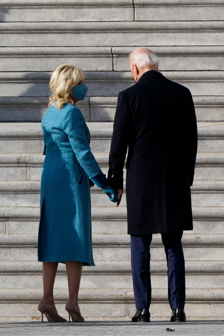 AP 21020568181351 Dr. Jill Biden Wore Sparkles To The Inauguration & Im Screaming