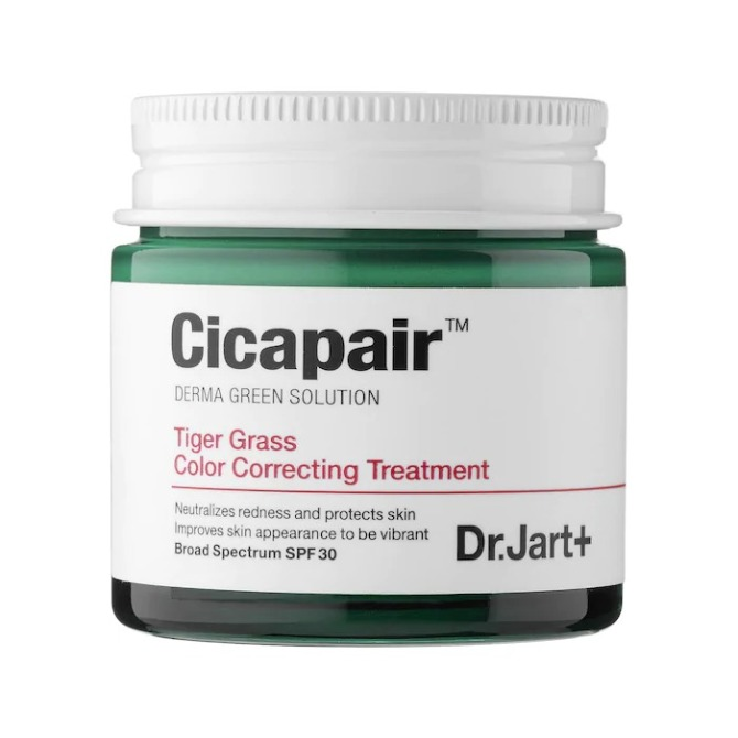 Dr. Jart Cicapair Tiger Grass Color Correcting Treatment SPF 30  Seeing Red? Time To Add This Soothing Skincare Ingredient To Your Lineup