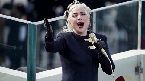 Lady Gaga Just Gave Us Chills With Her Patriotic National Anthem Performance | StyleCaster