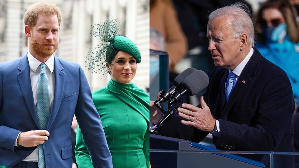 Meghan Markle, Joe Biden, Prince Harry