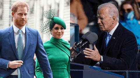 Meghan Markle & Prince Harry Were 'Emotional' Watching Friend Joe Biden's Inauguration   StyleCaster