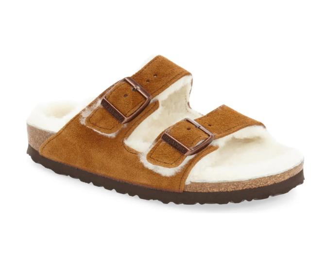Arizona Genuine Shearling Lined Slide Sandal