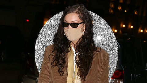 Bella Hadid's Baggy Brown Suit Looks Like A Big Piece Of...Chocolate | StyleCaster