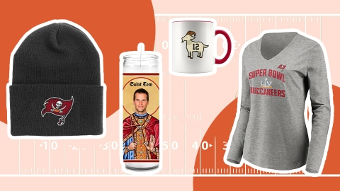 Calling All Tampa Bay Fans—Shop This Cute Bucs Merch Before The Super Bowl | StyleCaster