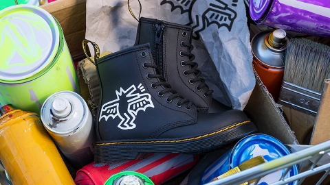 The Dr. Martens x Keith Haring Collab Makes These Iconic Boots Even Cooler | StyleCaster