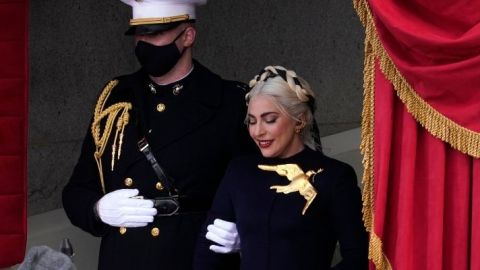 Lady Gaga Looks Straight Out Of The 'Hunger Games' At The Inauguration | StyleCaster