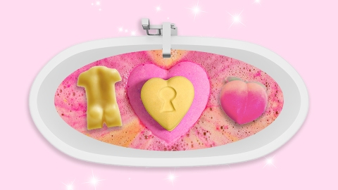 A Naked Man and a Peach: Lush Is Bringing Back Its Suggestive Bath Bombs for V-Day | StyleCaster