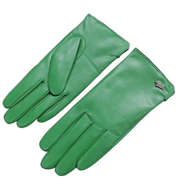 luvas de couro nappalago verde 1 Esses casacos e luvas combinando chamam por um momento Bougie monocromático