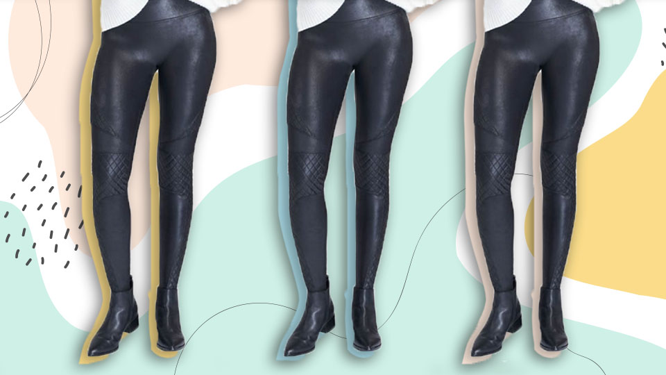 Spanx's Faux Leather Leggings Are 30 Percent Off RN — No, This Is Not A Drill