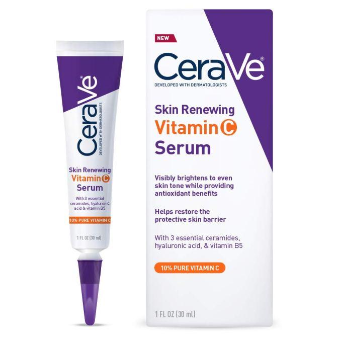 CeraVe Vitamin Hyaluronic Brightening Fragrance AOC's Favorite Vitamin C Serum Is Only $16