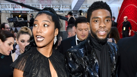 Chadwick Boseman Won a Posthumous Golden Globe & His Wife's Speech Brought Us to Tears | StyleCaster