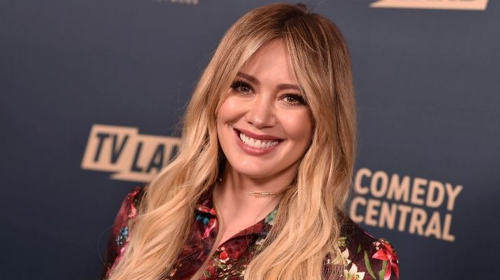 Hilary Duff Debuts Blue Hair—But It's Not Because She's Having a Boy