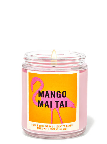 bbw single wick candle mango Bath & Body Works New Collection Is A Tropical Vacation In Candle Form