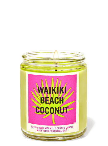 bbw single wick candle Bath & Body Works New Collection Is A Tropical Vacation In Candle Form