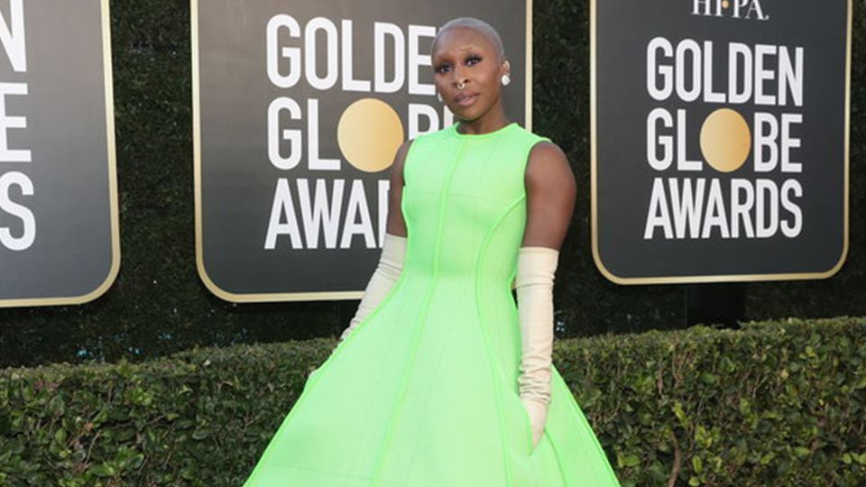 Allow Me To Give Cynthia Erivo's Golden Globes Look The Green Light
