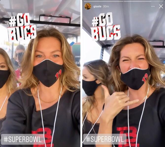 STYLECASTER | Gisele Bundchen Super Bowl Look