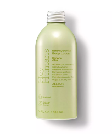 hey humans body lotion banana aloe Jada Pinkett Smith Just Rolled Out Her New Beauty Brand & Everything Is Under $6