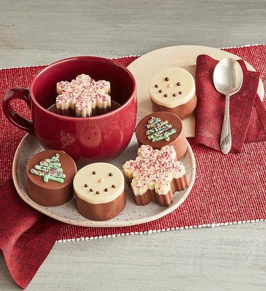 Bombas de chocolate caliente navideñas de Harry y David