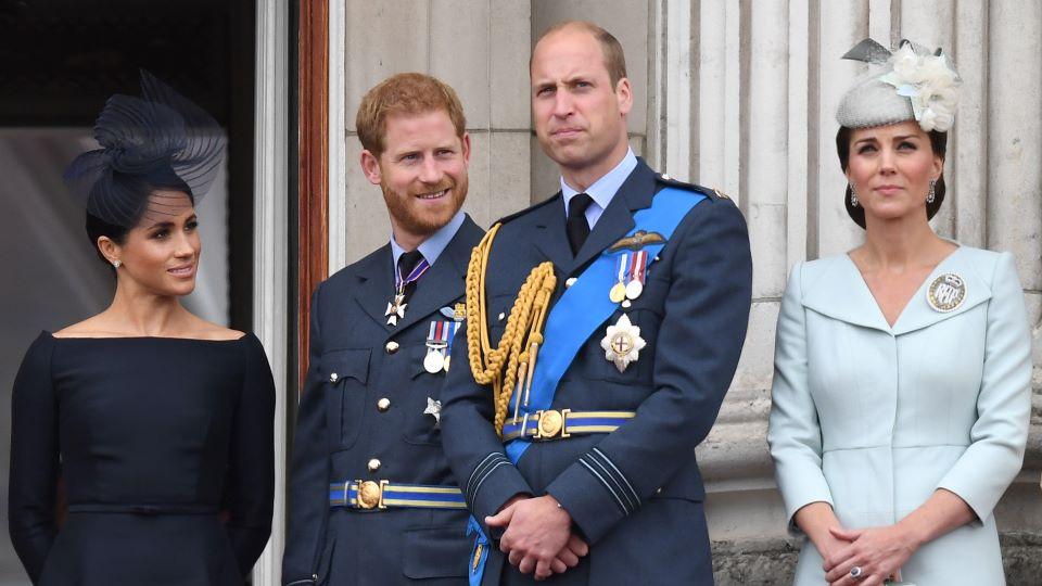 Meghan Markle, Prince Harry, Prince William, Kate Middleton
