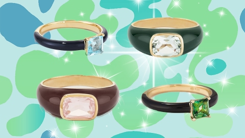 Mejuri's New Enamel Rings Nail 2021's Hottest Jewelry Trend | StyleCaster