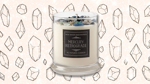 This Crystal Candle Protects Against Mercury Retrograde's Bad Vibes | StyleCaster