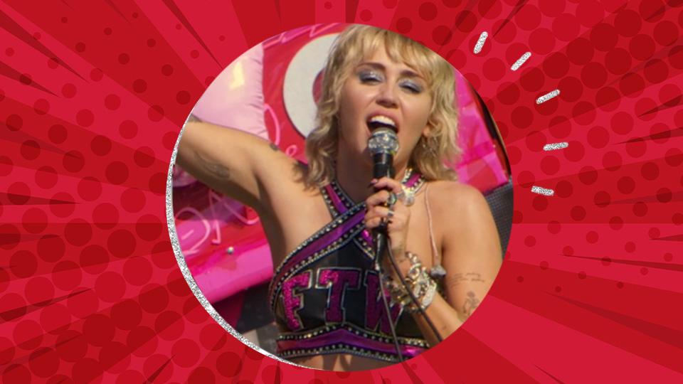 Miley Cyrus' Super Bowl Look Gives Me Rockstar Cheerleader Realness