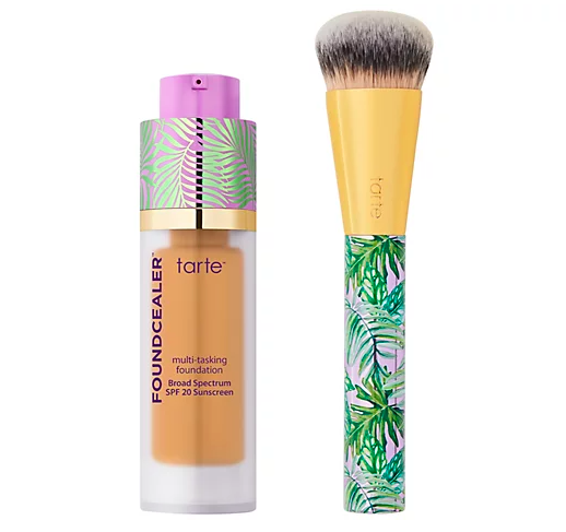 tarte Foundcealer Multi Tasking Foundation with Brush The Entire Tarte Shape Tape Lineup Is On Sale Now & Your Skin Will Never Look Better