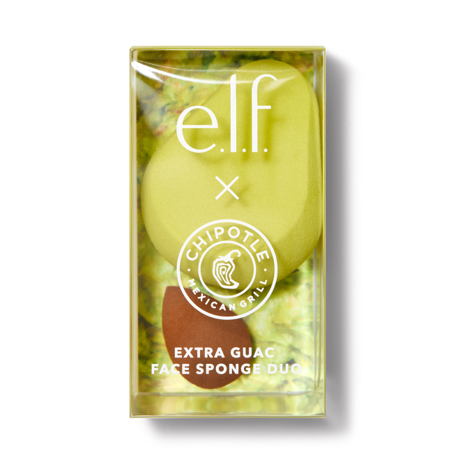Chipotle Extra Guac Sponge Set In Pack 10.00 elfcosmetics.com OMG — ELFs Next Chipotle Collab is Here & Guac Is Not Extra