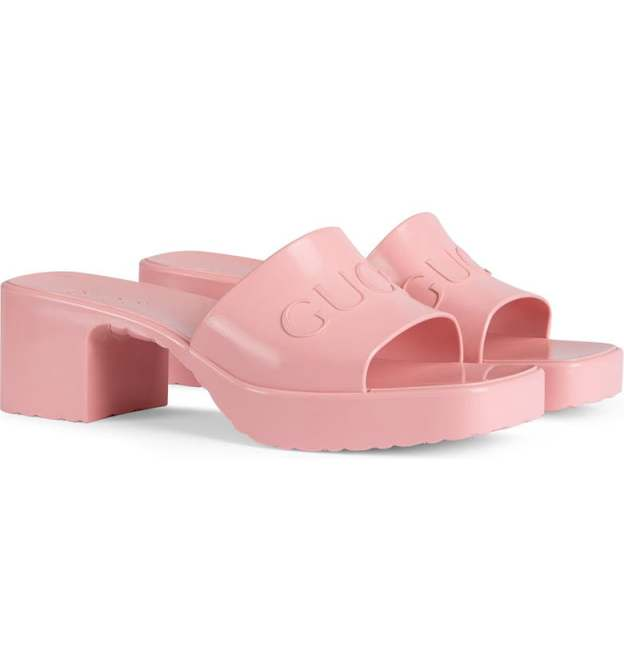 STYLECASTER   Gucci Rubber Slides