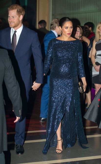 Meghan Markle, Prince Harry at Royal Albert Hall in 2019
