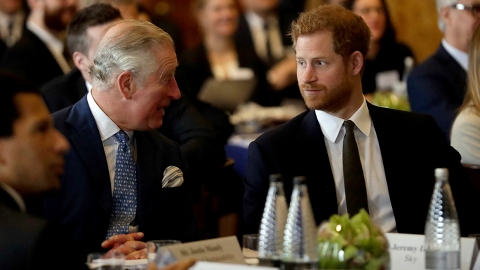 Prince Charles Just Laughed at Someone Who Asked About Harry & Meghan's Oprah Interview | StyleCaster