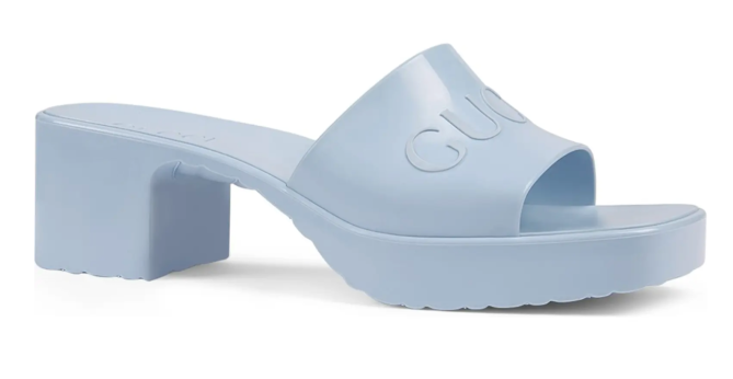 STYLECASTER | Gucci Rubber Slides