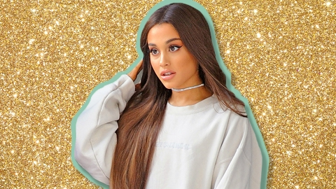 Ariana Grande's Gold Dress Looks Like It Was Dipped In A Vat Of Glitter | StyleCaster