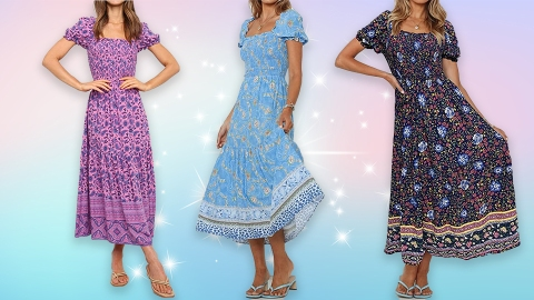 This $30 Puff-Sleeve Amazon Dress Comes In SO Many Prints & Colors | StyleCaster